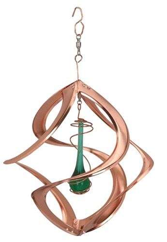 Red Carpet Studios Cosmix Copper Spinner with Green Teardrop, Small