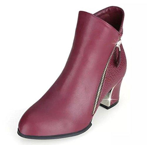 KUKI autumn and winter women's boots Martin boots boots women's boots high heels cheap women's boots large size women's boots red black women's boots red