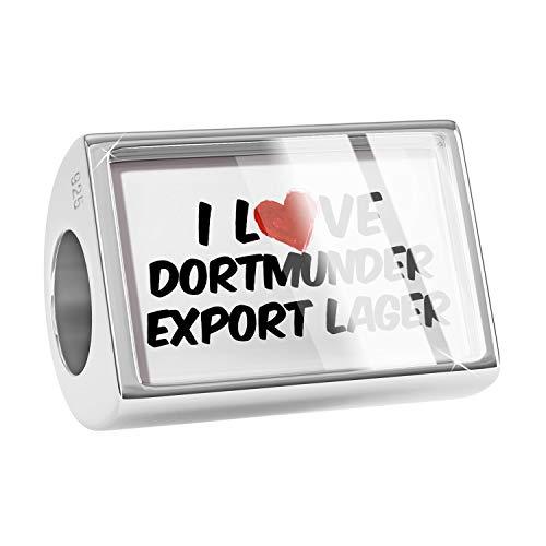 NEONBLOND Charm I Love Dortmunder Export Lager Beer 925 Sterling Silver ()