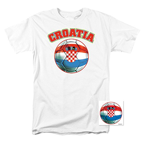 Popfunk Croatia World Cup Soccer T Shirts (X-Large)