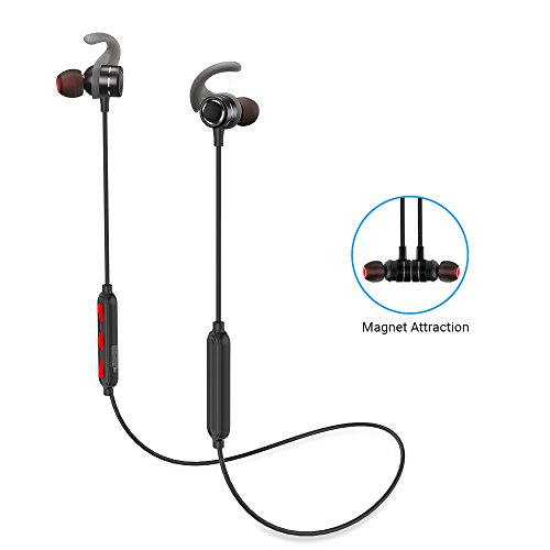 Huafly Bluetooth Headphones – HD Stereo Sound Wireless Bluetooth Earbuds for Sports Sweat proof Magnetic Earphones with Noise Canceling and Built-in Mic