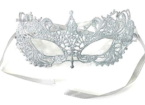 Dakota Johnson's Fifty Shades Darker Mask - Halloween Anastasia Steele Silver Masquerade for Women (Silver Crystals) (Fifty Shades Of Grey Official Release Date)
