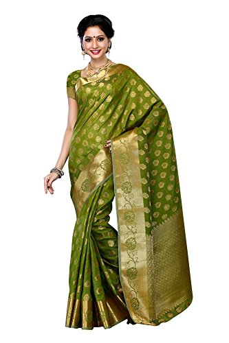 Mimosa-WomenS-Tussar-Silk-Saree-With-BlouseColorOlive3193-179-OLV