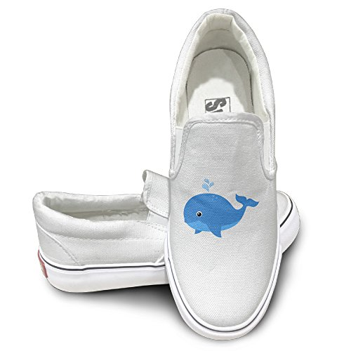 [CAPA Unisex Comfort Shoes Dolphin Design Flat Canvas Sneaker 42 White] (Leo Johnson Costume)