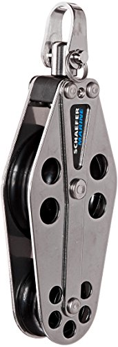 (Schaefer 5 Series Fiddle Block Stainless Steel Cheeks and Delrin Plain Bearing Sheave)