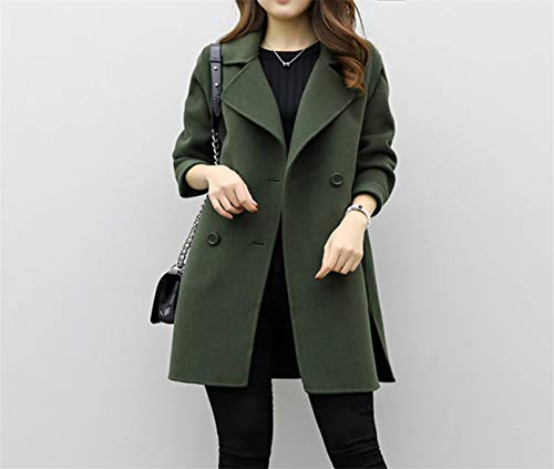 Automne Tops Taille Simple Chic Veste d'hiver Vert ete Femme Grande Slim Casual Vintage Gilet Courte Parka 5Bx4Ww