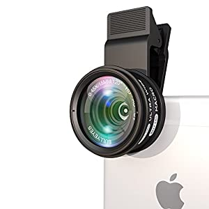 BullyEyes Phone Camera Lens Kit: Ultra Wide Angle Lens w/ Macro Lens. For Impressive Photos and Videos. Fits Samsung, iPhone, Huawai (Most of Smartphones) + Bonus: Shooting Techniques