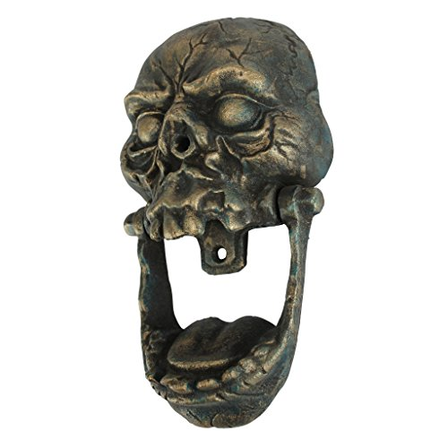 Design Toscano Knock-Jaw Skull Cast Iron Door Knocker