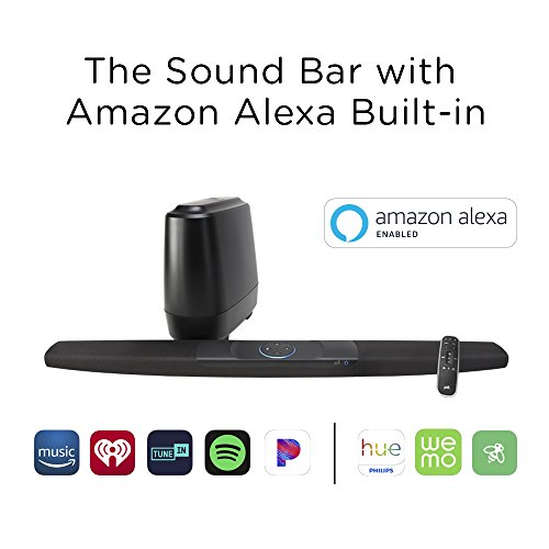 Polk Command Sound Bar with hands-free Amazon Alexa Voice Control Built-in, 4K HDMI, and Fire TV Compatible for your Home Theater
