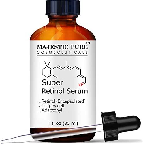 Majestic Pure Super Retinol Serum - Age Defying Face Serum, Diminishes the Appearance of Fine Lines and Wrinkles, for Youthful Radiant Looking Skin - 1 fl oz