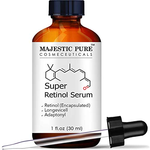Line Majestic - Majestic Pure Super Retinol Serum - Age Defying Face Serum, Diminishes the Appearance of Fine Lines and Wrinkles, for Youthful Radiant Looking Skin - 1 fl oz