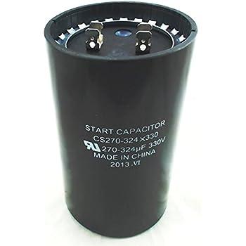 PACK USA 270-324 MFD uF HVAC Electric Motor Start Capacitor 330 VAC VOLT 2