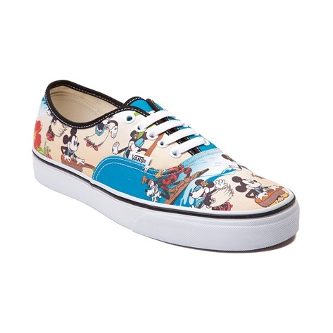 Disney and Vans Authentic Aloha Mickey Skate Shoe (Mens 5.5/ Womens 7)