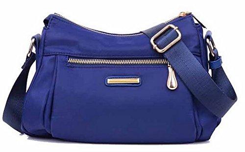 Azul Mano Moda Mujeres Casual Cruzados Agoolar De Cremalleras Bolsas Bolsos gmxbb180687 vqSPffnFx