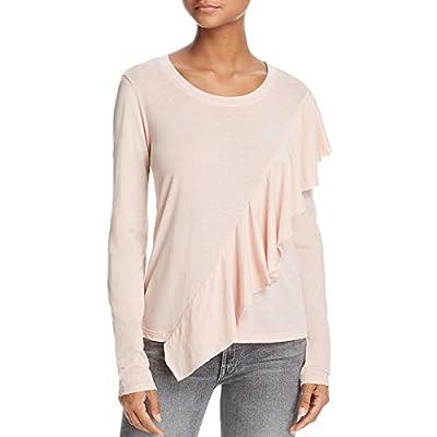 Splendid Womens Ruffled Long Sleeves T-Shirt