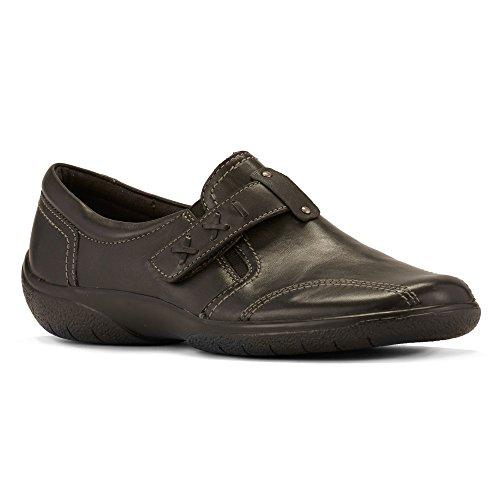 Walking Cradles Women's Art Flat Black Leather