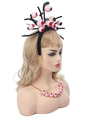 Myjoyday Halloween Headband for Women Skull Eyes Hair Accessories Party Headwear Supplies for Girls (Eyeballs and Tentacle)