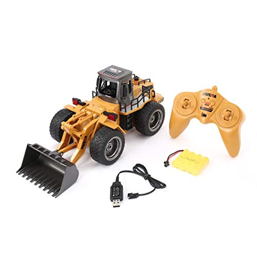 Susanda HUINA 1520 6CH RC Metal Bulldozer 1/18 2.4GHz RTR Front Loader Engineering Toy Remote Control Construction Tractork Vehicle