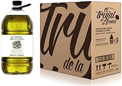 Caja con 3 Garrafas 5L – El Trujal de la Loma TRADICIÓN – Aceite de Oliva Virgen Extra - Garrafa Aceite de Oliva: Amazon.es: Alimentación y bebidas
