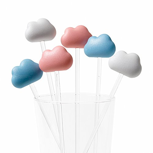 Sansukjai Pink Blue White Cloud, Stirrer, Party Decorations, Party Ideas, Gift Ideas, Modern Home - Are Glasses What Round Called