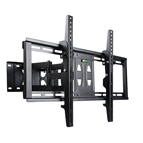 "UNHO Corner TV Wall Mount TV Bracket Articulating Dual-Arm Swivel for 32""- 65"" LED LCD Plasma Flat Screen Monitors VESA upto 600x400 and 110 lbs"