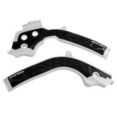 Acerbis X-Grip Frame Guards White//Black for KTM 500 EXC-F 2017-2018