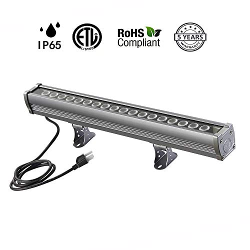 Price comparison product image Hakkatronics 18W LED Wall Washer Light Bar[Warm White 3000K,  IP65 Waterproof],  Linear LED Light Bar for Hotel,  Villa,  Christmas Party,  Commercial and Residential Decorative Project (5 Years Warranty)