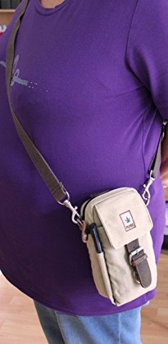 Bolsa de hombro cáñamo hf011Camel Cinturón bolsillos/Combi Pure