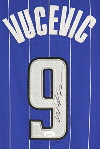 (Nikola Vucevic Orlando Magic Signed Autographed Blue #9 Jersey JSA COA)