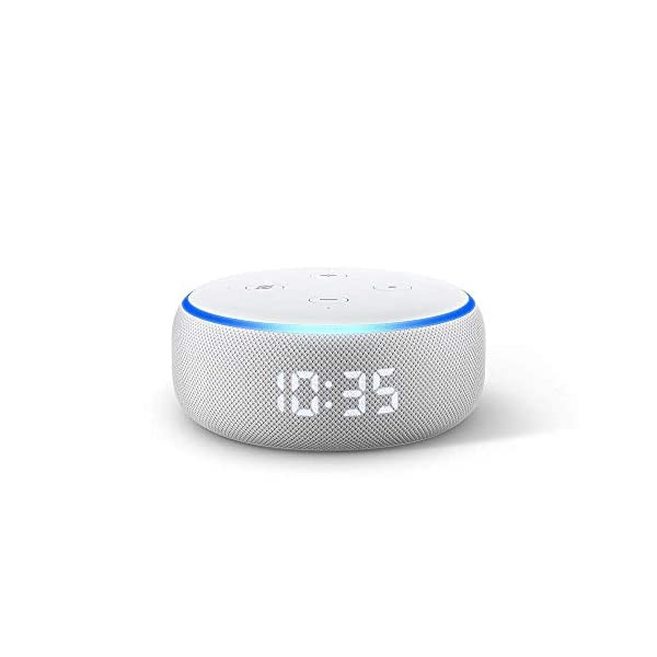 41aSOTyzEBL Echo Dot (3rd Gen) with clock - Smart speaker with Alexa and LED display (White)