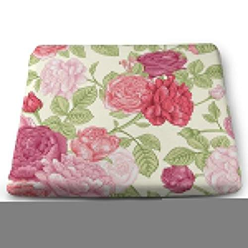 - Pamdart Seamless Vintage Pattern with English Roses Personalized Square Seat Cushion Memory Cotton Zipper Detachable for Dining Table Patio Chair