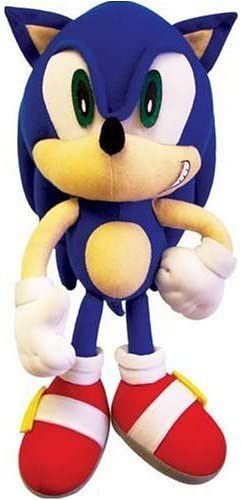 Amazon Com Ge Animation Sonic X 9 Sonic Plush Figure Toys Games