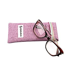 SOOLALA Womens Designer Cat Eye Metal Arms Reading Glasses Customized Strengths, DarkTea, +1.75D