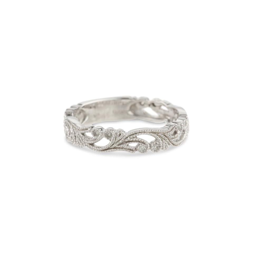 10k White Gold Diamond Ring (1/10 cttw, H I Color, I1 I2 Clarity)