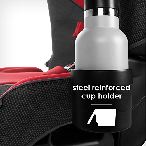 41aSPgoWbiL - Diono Radian 3QX 4-in-1 Rear & Forward Facing Convertible Car Seat | Safe+ Engineering 3 Stage Infant Protection, 10 Years 1 Car Seat, Ultimate Protection | Slim Design - Fits 3 Across, Red Cherry