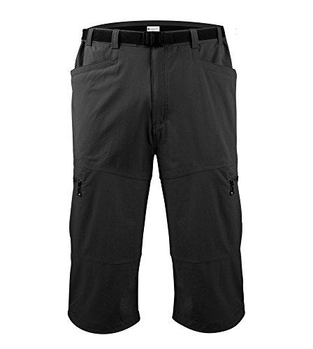 Mens Cycling Knickers - Men's Urban Pedal Pusher Knickers w Cargo Pockets MEDIUM Black