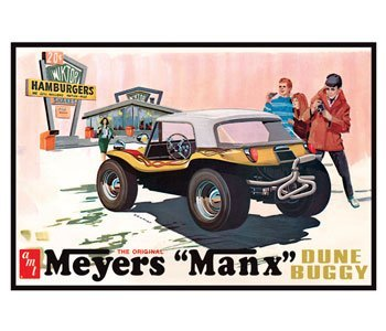 Meyers Buggy Dune Manx - #scm006 AMT The Original Meyers Manx Dune Buggy, Auto World Exclusive ,Molded in Purple 1/25 Scale Plastic model Kit,Needs Assembly by AMT Datasouth