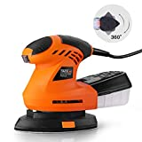 Mouse Detail Sander, Tacklife 200W, 12000OPM Detail Sander with 360° Rotatable Sanding Pad, Sturdy Dust Collection Container with Buckle Design – PMS02A Review