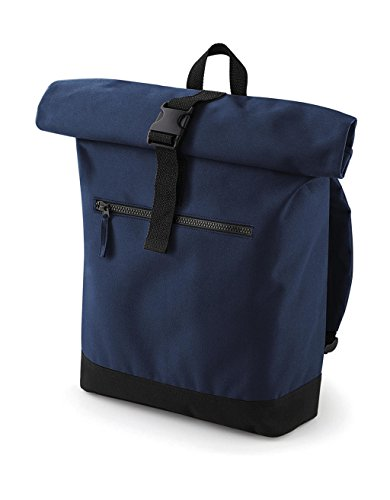 BagBase Roll-Top Backpack French Navy