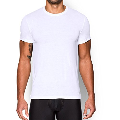- Under Armour Men's Core Crew Undershirt, White (100)/Steel, Medium