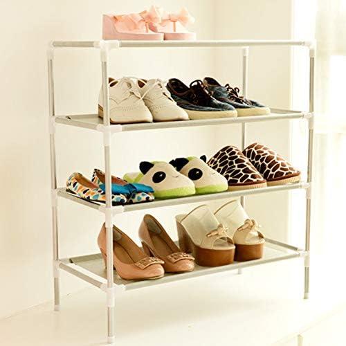 HJKGSVdv Stainless Steel Multi-function Storage Rack Bedroom Shoe Shelf Cabinet Multi-layer Non-woven Simple Shoe Rack A