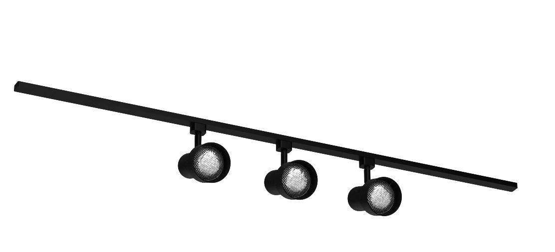 Catalina Lighting 13925-008 Basic 3 Step Liner Track Lighting Kit, Medium, Black