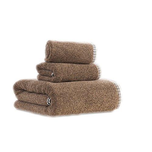 per marrone SHOP Colore sportiva Asciugamani 3 grigio LU Marrone cotone asciugamani da LI pacchetto spessa bagno Marrone più pulizia qf4RSza