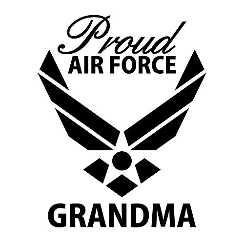 CrazyWEN-Sticker- Proud Air Force Grandma Vinyl Decal,Support Our Troops, Sticker, Decal