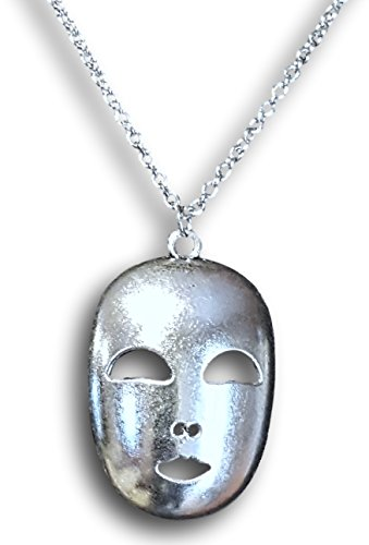 Vintage Silver Mask Head Pendant Necklace by (Donald Duck Halloween Mask)