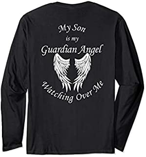 Son Guardian Angel  - Memorial Gift For Loss of Son Long Sleeve T-shirt | Size S - 5XL