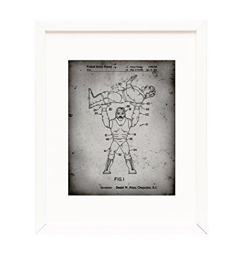 Hulk Hogan Wrestling Action Figure Framed Patent Print