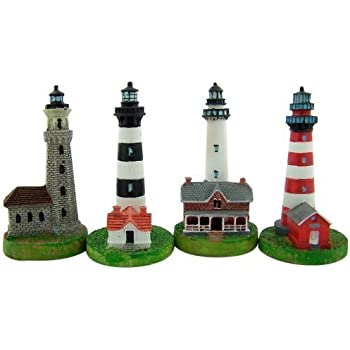 Amazon.com: Collectors Gift Set of 4 Assorted Lighthouse