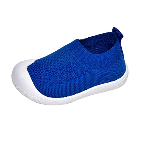 Kid's Easy Walking Slip on Baby Boys & Girls Quick Dry Water Shoes Lightweight Breathable Sneakers (Toddler/Little Kid) Blue -