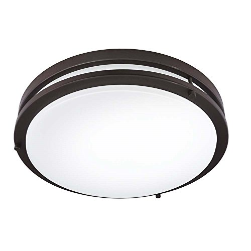 Good Earth Lighting Jordan 14-inch LED Flush Mount Light - - Lighting Flush Bronze